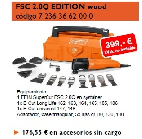 Fein Super cut 2.0q oferta primavera edicion wood